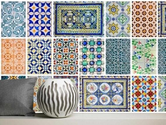 Laminato in vinile adesivi azulejo tradizionale portuges etsy