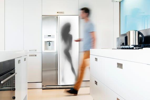 Kühlschrank Aufkleber : Kühlschrank vinyl aufkleber frau silhouette etsy