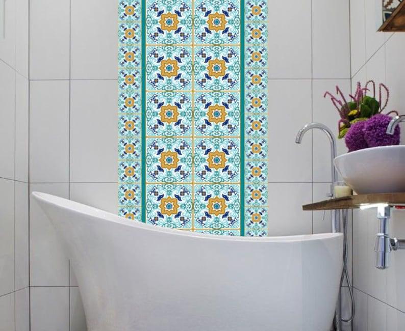 Vinile adesivi messicano marocco lisbona piastrelle set 16 etsy