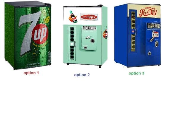 Mini Kühlschrank Von Coca Cola : Mini kühlschrank vinyl aufkleber up dr pepper etsy