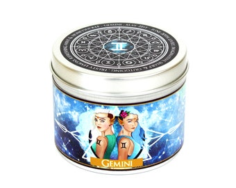 Gemini zodiac candle - Gemini star sign candle - Gemini constellation gift - zodiac gifts - star map - astrology gift - horoscope - birthday