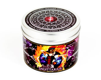 Sagittarius zodiac candle - Sagittarius star sign candle - Sagittarian constellation gift -horoscopes - astrology gift - horoscope - zodiac