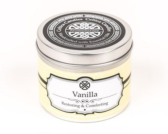 Vanilla Essential Oil Aromatherapy Candle - Vanilla Aromatherapy candle - Handmade Vanilla Essential Oils candle - yoga - massage spa day