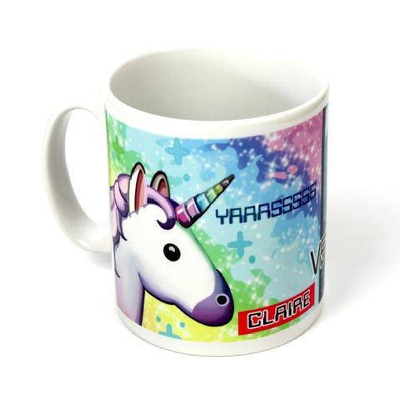 Cute Unicorn Mug - Emoji Unicorn Coffee Mug - Rainbow Unicorn - Sparkles  Glitter - Personalized Mug - Horse Gift - Rainbow - Donkey Mug cute