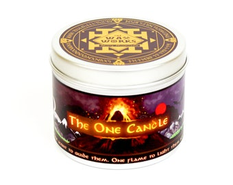 The one candle - Movie inspired scented candle - bookish candles - the hobbit - bookish - lord of the rings gift - lord of the rings art