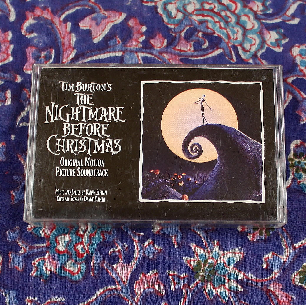 The Nightmare Before Christmas Cassette Tape Movie Soundtrack   Etsy