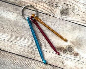 Crochet Hooks for Knitter,  Mini Crochet Hook Set, Crochet Hook Keychain, Knit Fixer, Gift for Knitter, Knitting Tools