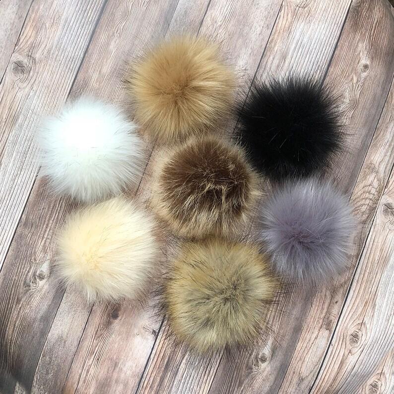 35a1b652ab Faux Fur Pom Pom Fake Fur Pom Pom Small 4 Pom Pom | Etsy