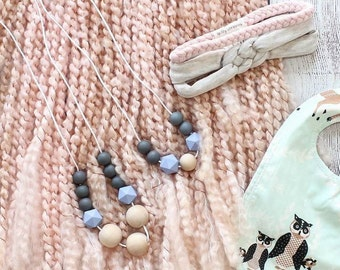 Teething Necklace/Mommy and Me Set/toddler Necklace