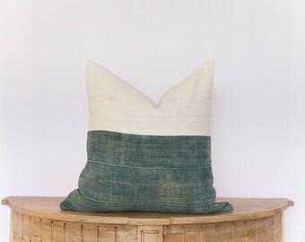 18X18 Indigo and White Mudcloth Pillow Cover