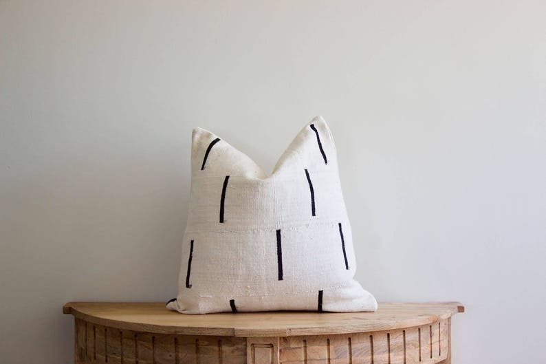 Mudcloth Pillow Cover  African Mudcloth Oni image 0
