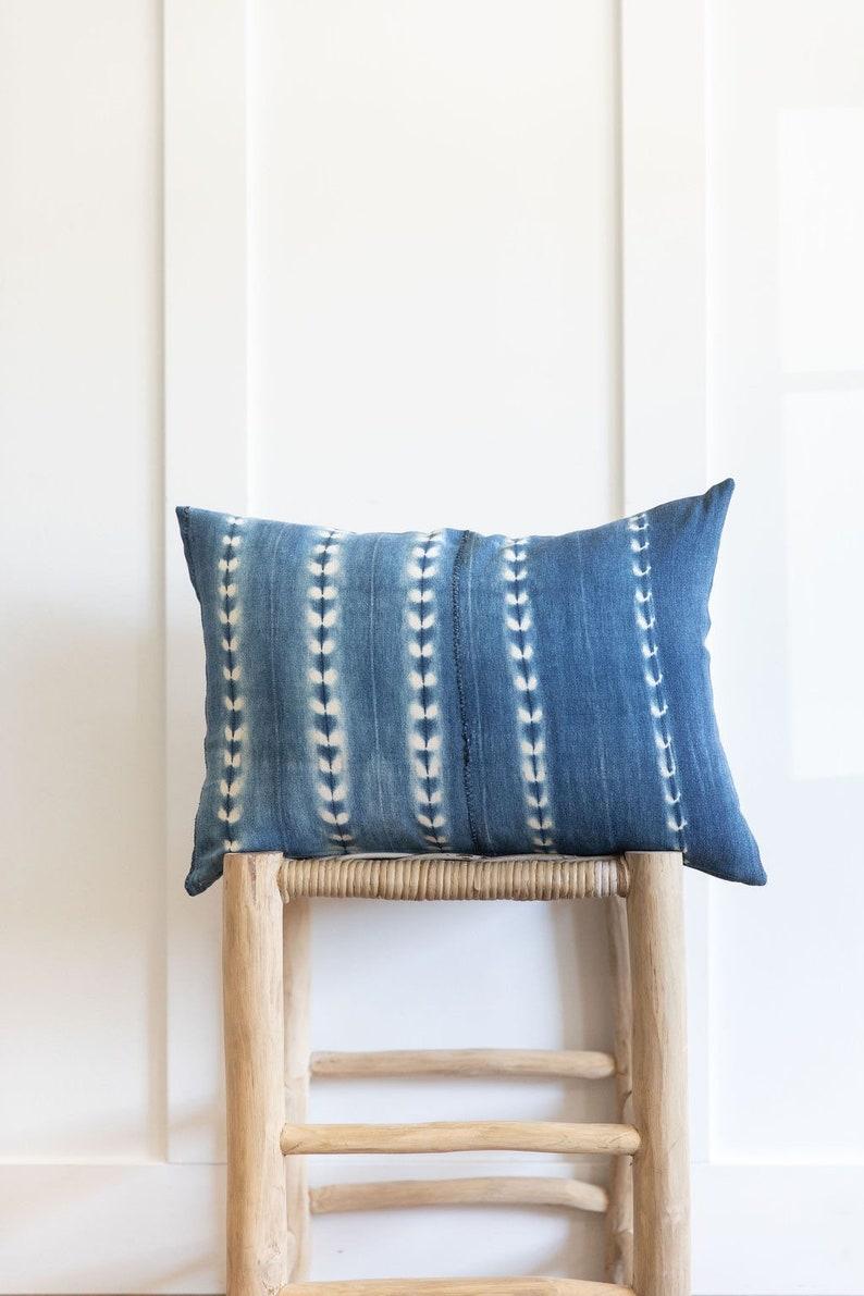 14x20 Authentic Indigo lumbar pillow cover
