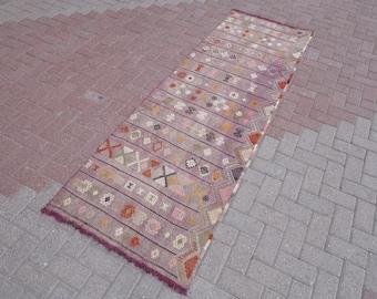 Vintage turkse kilim tapijt loper tapijten te koop corridor etsy