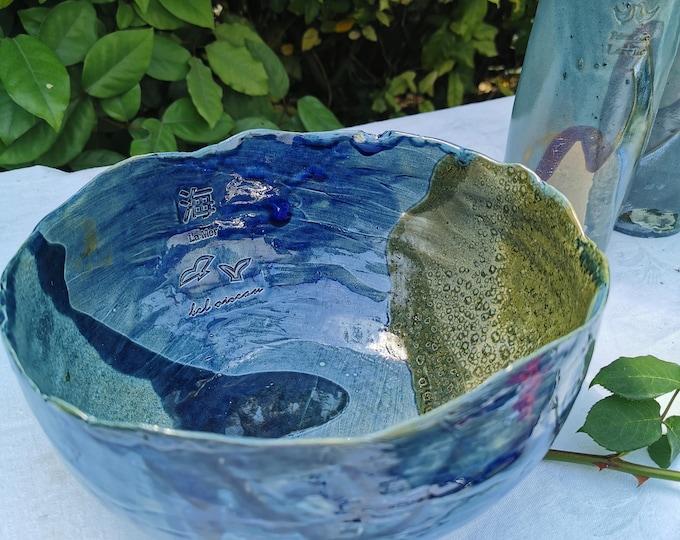 big salad bowl hand made in ceramics