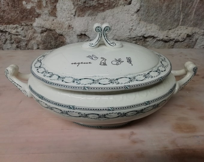French Faïence tureen