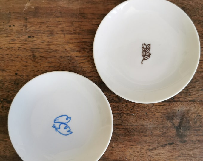 screen printed little plates