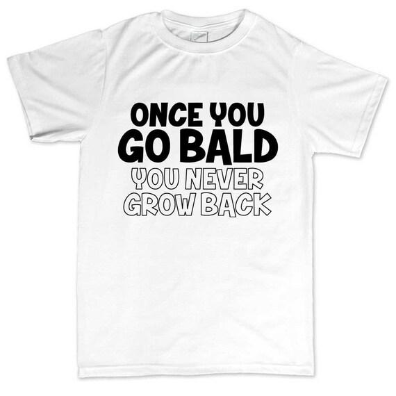 REAL MEN GO BALD fathers grandads christmas birthday gift idea mens women TSHIRT