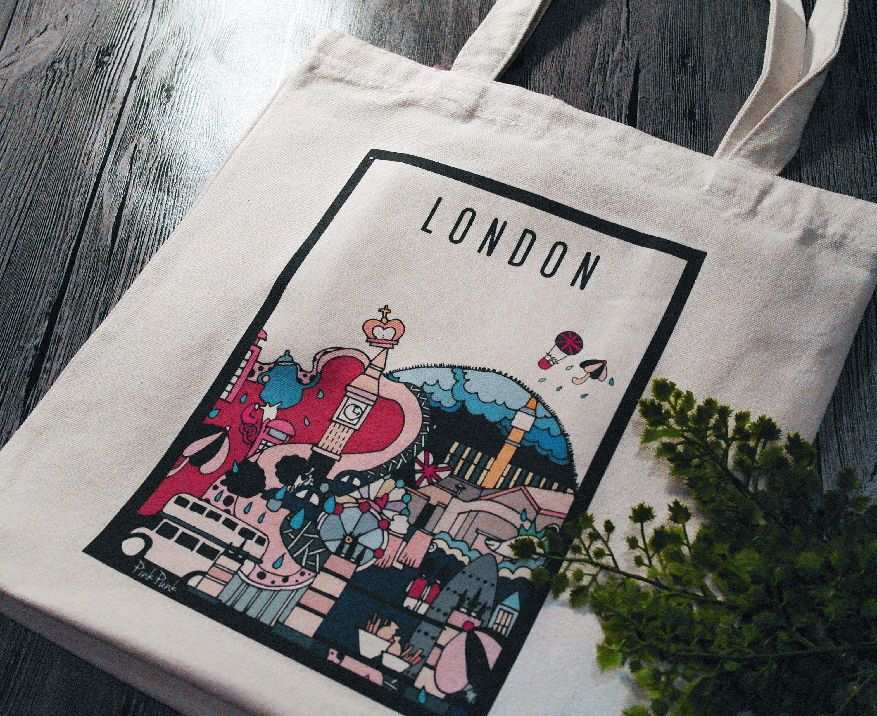 London Royal Bag UK England Traveling Souvenir Birthday Gifts Student School Laptop Bags Chic City Sketch Canvas Lifestyle Fun Totes
