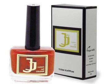 JJ Custom Colour Salsa Red Nail Varnish - Red Nail Polish