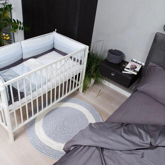 Runde Graue Baumwolle Hakeln Teppich Kinderzimmer Teppich Junge Madchen Baby Spielen Sie Matt Baby Teppich Hakeln Spiel Matte Kinderzimmer
