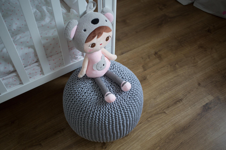 READY TO SHIP large mint kids crochet pouf knit pouf kids baby floor pillow pouf knitted pouf round ottoman