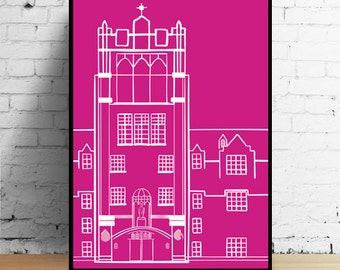 Le Mans Saint Mary's College Print Pink