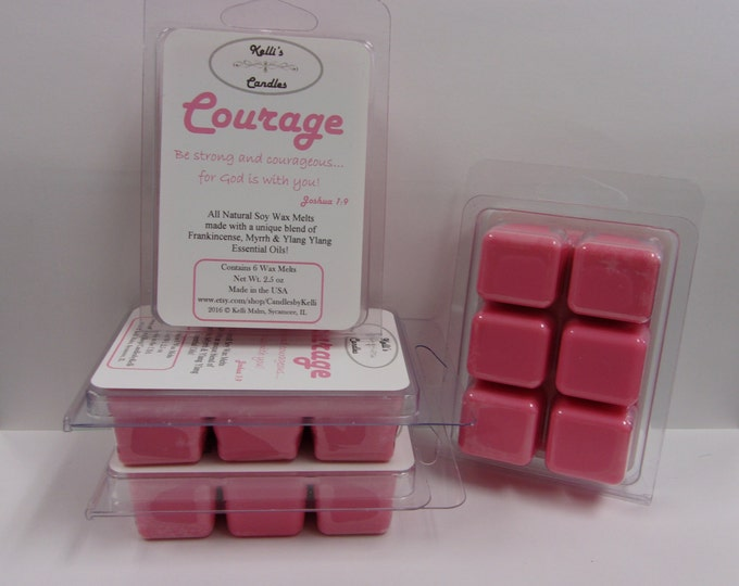 Courage Wax Melt ~ All Natural Soy Wax ~ Frankincense, Myrrh & Ylang Ylang  ~ 2.5 oz
