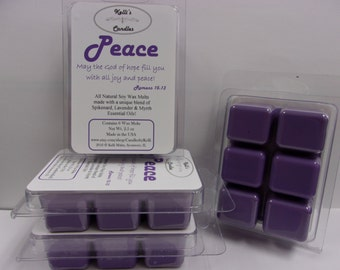Peace Wax Melt ~ All Natural Soy Wax ~ Spikenard, Lavender & Myrrh Essential Oils ~ 2.5 oz