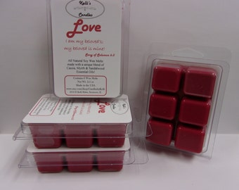Love Wax Melt ~ All Natural Soy Wax ~ Cassia, Myrrh & Sandalwood Essential Oils ~ 2.5 oz