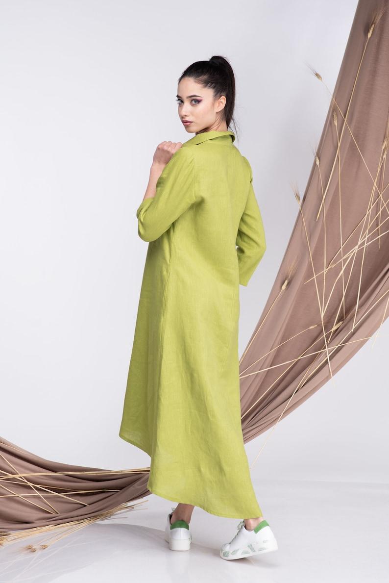 Linen Shirt Dress Linen Button up Dress Women