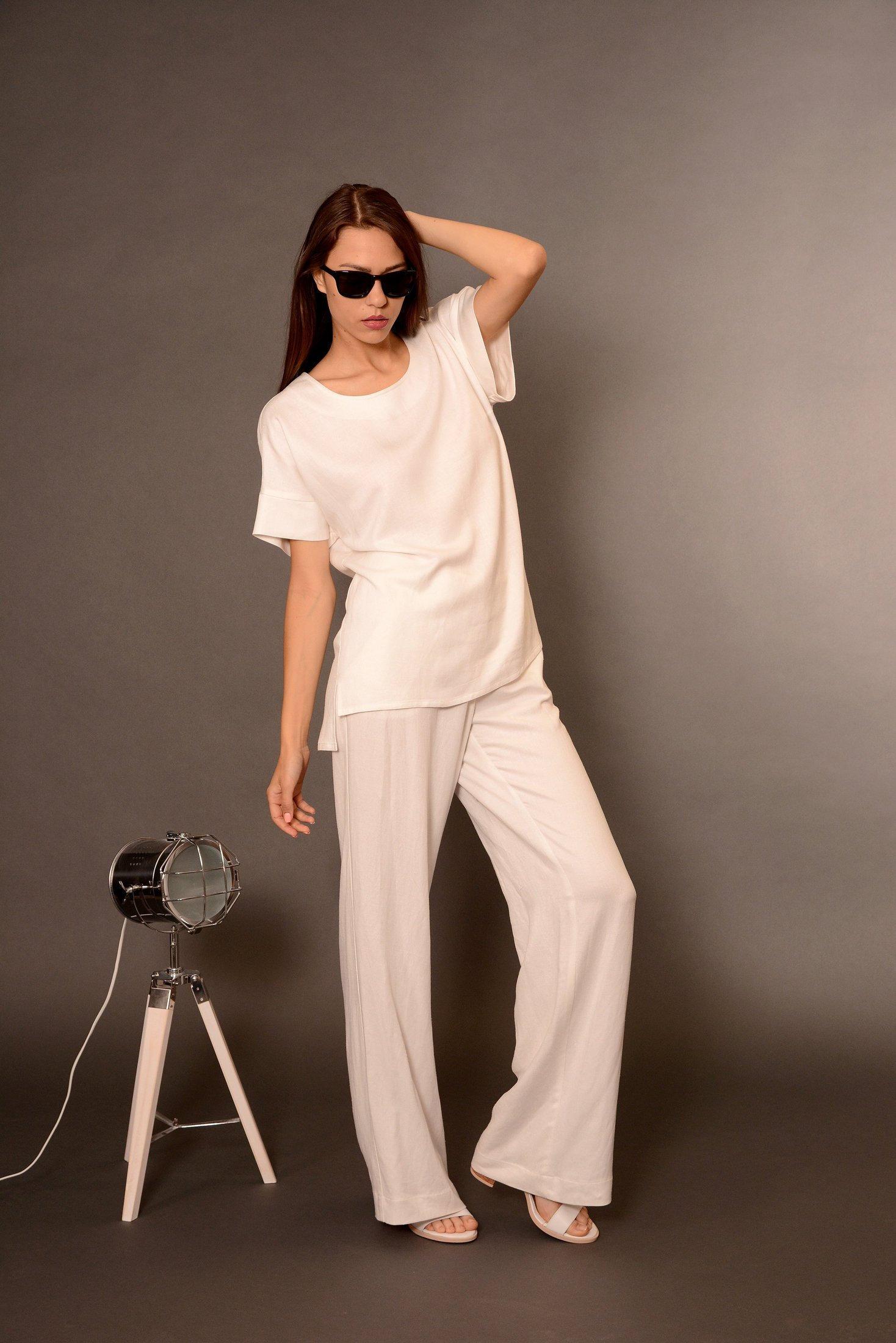 464affe7b717d White Tops Linen Tank Top Linen Top Linen T-Shirt Linen