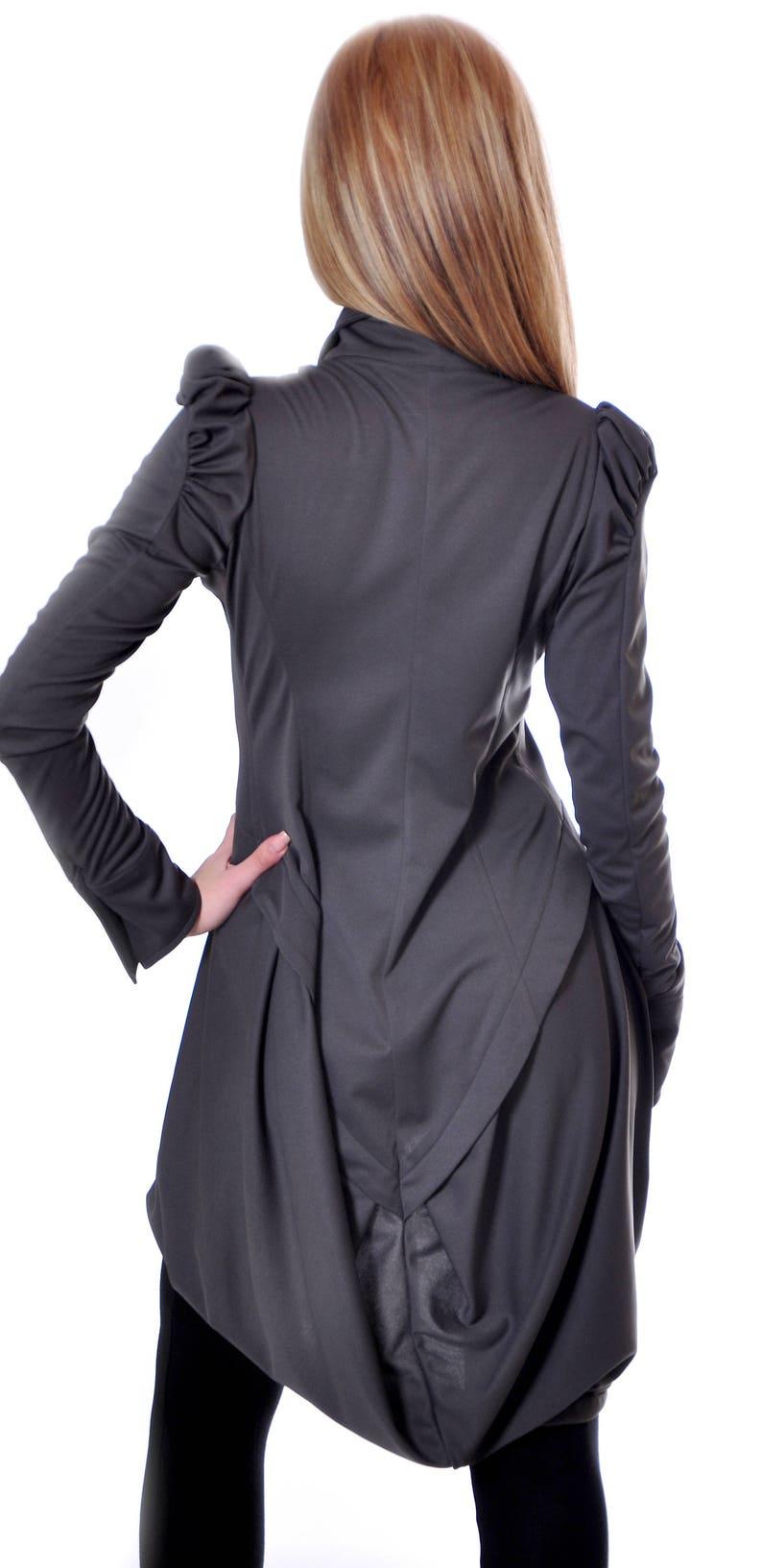 Danely D14.05.1 Party Top Design Blouse Extravagant Tunic Top Elegant Tunic Womens Shirt Asymmetrical Shirt Tunic Purple Cotton Shirt