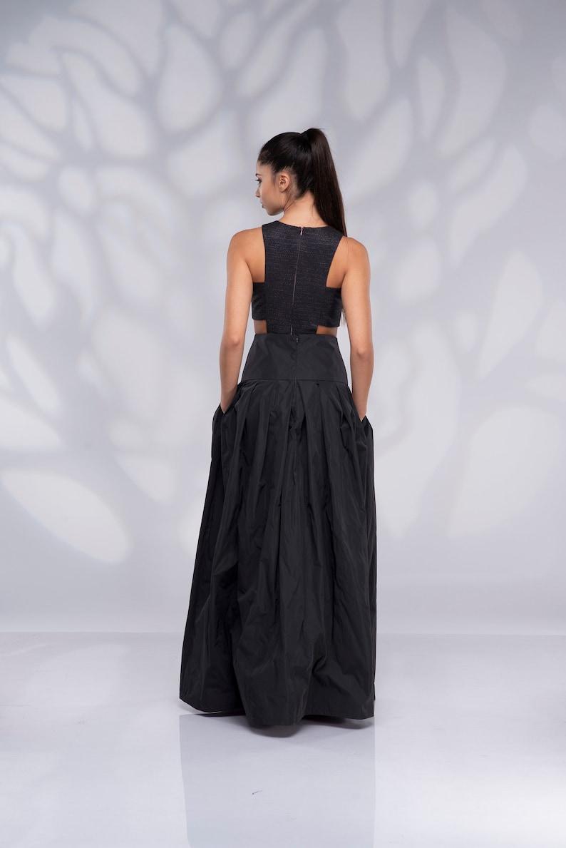 Long High Waisted Skirt Wedding Skirt Maxi Skirt