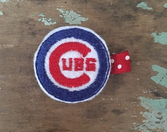 Chicago Cubs Baseball hair clip