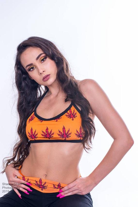 Weed Lover Rave Bottoms Sheer Thong 420 Gifts Stoner Girl Cannabis Weed Girl See Through Panties Stoner Gifts Marijuana Accessories