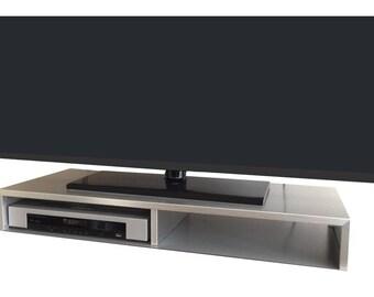 Table Meuble Tv Pour Ecran Plat Noir Rizervue Etsy