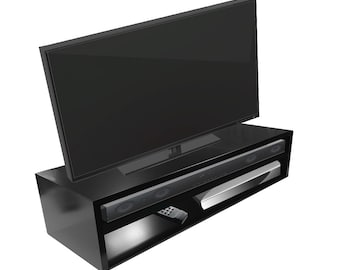 Tabletop Tv Stand For Flat Screen Brushed Aluminum Etsy