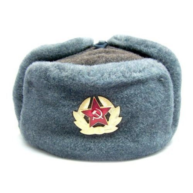 f696f7992a106 Authentic Soviet and Russian soldier army hat Ushanka