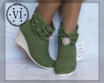 636d9c7adbd7c Crochet summer boots | Etsy