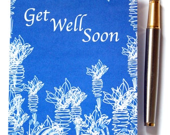 small A6 get well soon card blank inside, congratulations, get well, birthday, sorry for your loss, thinking of you, mother's day, retire