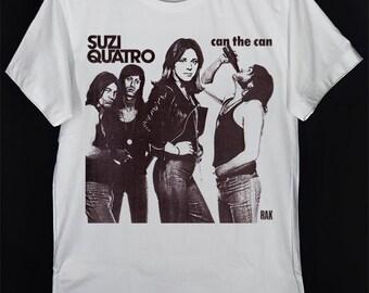 Suzi Quatro T Shirt 48 Crash Glam Rock Leather Tuscadero Music Unisex Women Gift