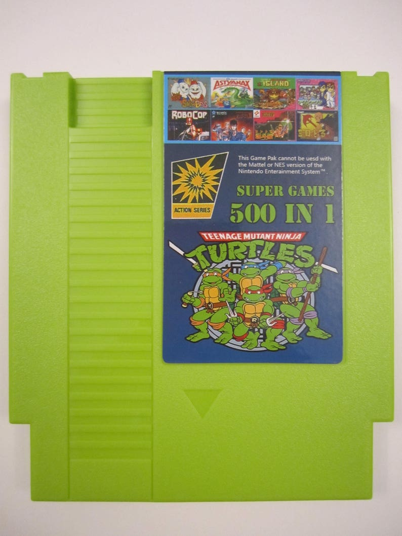 507779d10819c Super Games 500 in 1 Multicart Green Cartridge for Nintendo