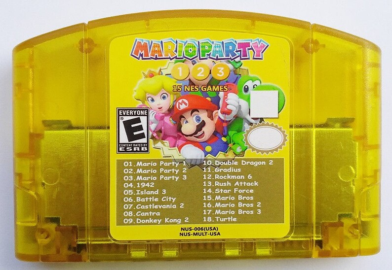 Mario Party 1 2 3 Nintendo 64 N64 18 in 1 Game Card + 15 Classic NES US  Edition