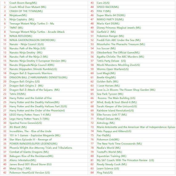 500 in 1 Nintendo Games Cartridge Multicart Cartridge For Nintendo DS NDS  NDSL NDSi 2DS 3DS