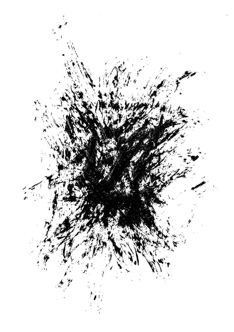 Minimalist Art Black Brush Stroke Modern Prints Printable Art Contemporary Prints