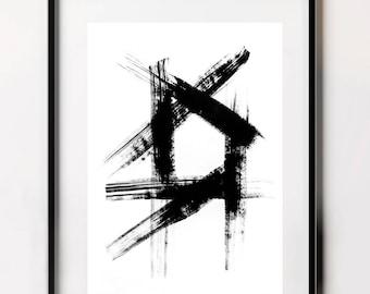 Trending Art, Brush Stroke Print, Simple Print, Abstract Fine Art Print