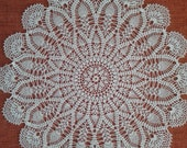 crochet doily, lace crochet doily, big crochet doily, white crochet doily, table center piece, round crochet tablecloth