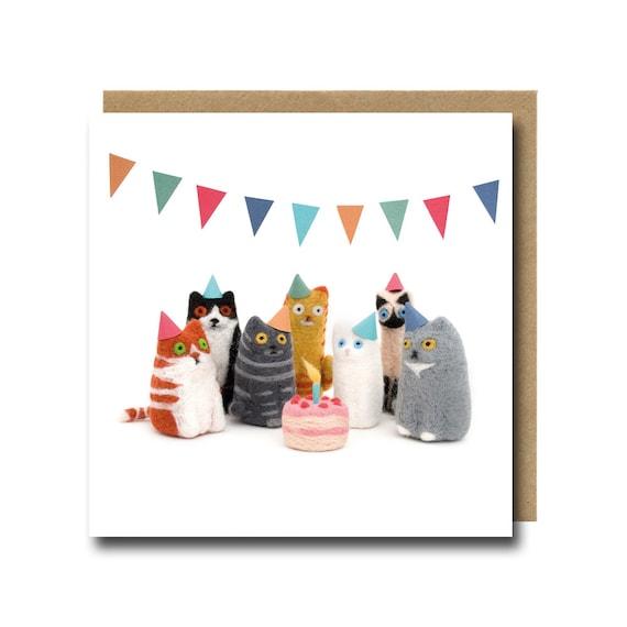 Cat Birthday Card Cat Card Funny Birthday Card Birthday Cat Etsy