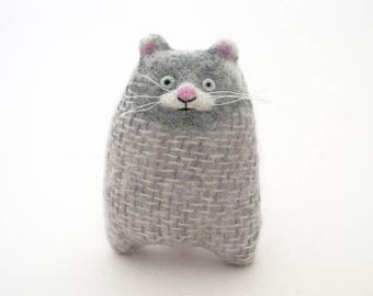 Dmitry the Siberian Hamster, Plush Textile Rodent, Knitted, Felted, Stuffed, Soft Art Toy, Animal Doll, Wool