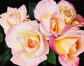 a0092202dff Morning Roses - Printable Oil Painting